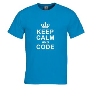 shirt keep calm and code